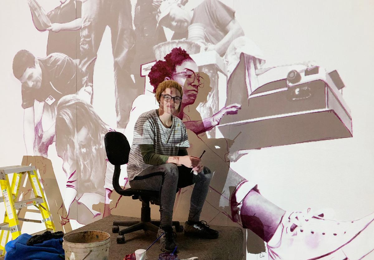 Jenna Johnson in her studio